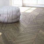 Bronze dark brown oak chevron laminate flooring