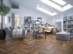 Ambre Ash Engineered flooring thermo wood UHF