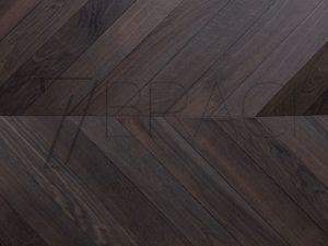 Carbonized Oak  Deep Smoked Oak Chevron Parquet