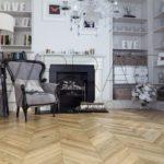 Charm Chic chevron parquet flooring natural oiled