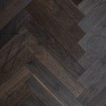 Dark Abyss Fine smoked oak parquet floorig Fumed