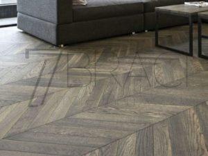 Dusk Noir Grey chevron flooring for underfloorheating