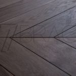 Fine Dark Oak – Fumed rustic oak chevron parquet