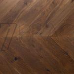 Golden Whiskey European Oak Chevron Solid Parquet