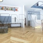 Industrial Rustique Oak Chevron parquet flooring