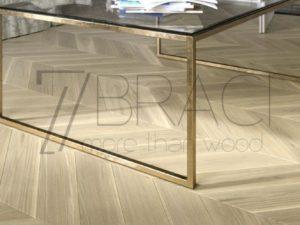 Modern Light Lune White oak chevron flooring UHF