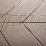 Pale White – European Prime Oak Chevron Parquet