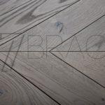 Steely Grey European Oak Chevron Parquet