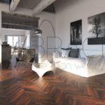 Ambre Ash parquet flooring for underfloor heating